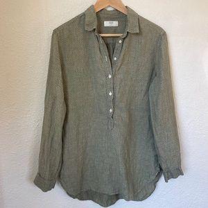 Uniqlo Linen Tunic Sage Green Medium
